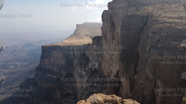 A breathtaking view from a high point at Qara mountains in Salalah.