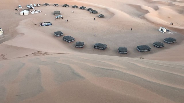 A camp site in Empty Quarter Salalah