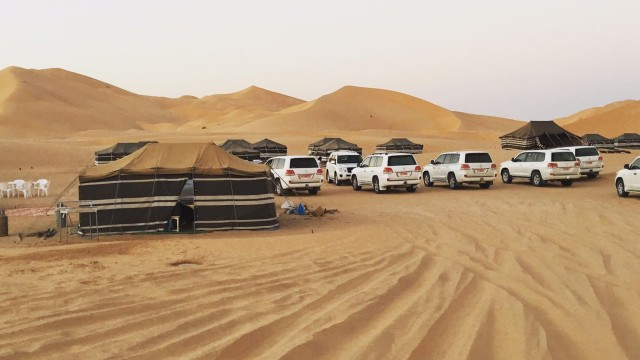 Camping style in Empty Quarter Salalah