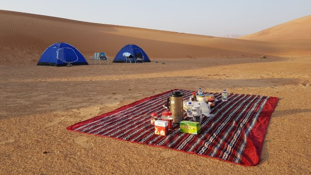 Private camping in the empty quarter Salalah