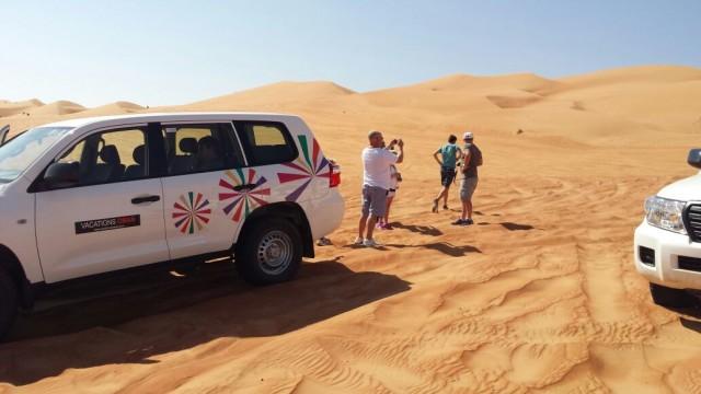 Inside Wahiba sands, enjoying the desert